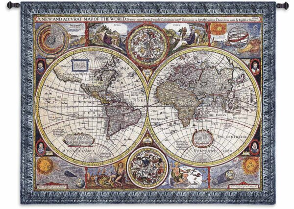 """A New and Accurate Map   67"""" x 53""""   Woven Wall Tapestry"""