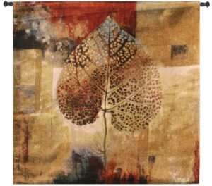 Abstract Autumn Extra Large | 63 x 63 | Woven Tapestry Decor
