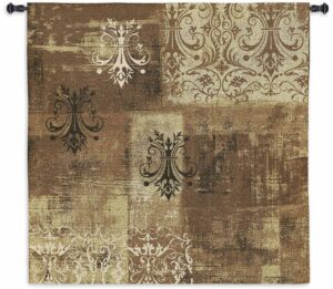 """Abstract Damask Flax Square 
