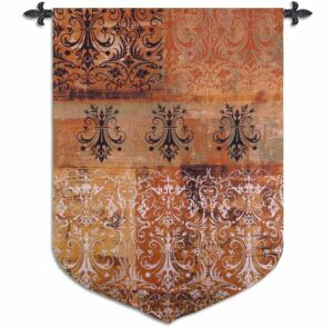 """Abstract Damask Persimmon Sculpted 
