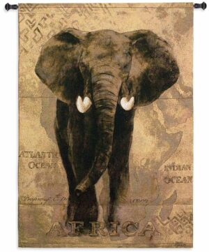 "African Voyage I (Elephant) | 38"" x 53"" 