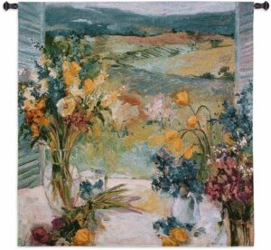Allayn Stevens Floral Tuscany | 53 x 53 Wall Hanging