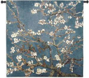 Almond Blossom by Vincent van Gogh | 52 x 52 | Woven Tapestry Decor