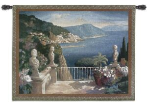 Amalfi Holiday by Max Hayslette | Waterscape Tapestry | 41 x 53