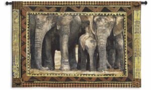"Among Family (Elephants) | 53"" x 38"" 
