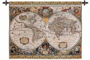 "Antique Map Geographica | 45"" x 35"" 