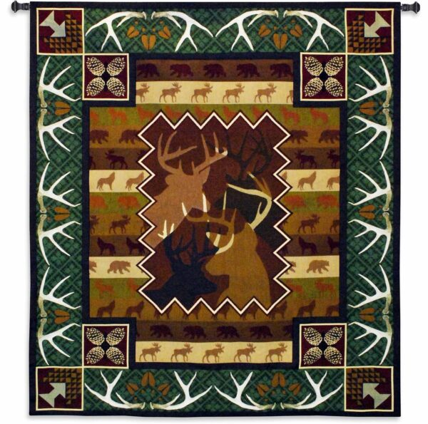 Antlers | 59 x 53 | Woven Wall Tapestry