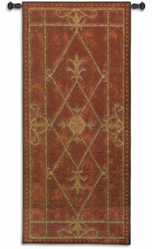 "Applique Leather Edinburgh Scroll | 26"" x 57"" 