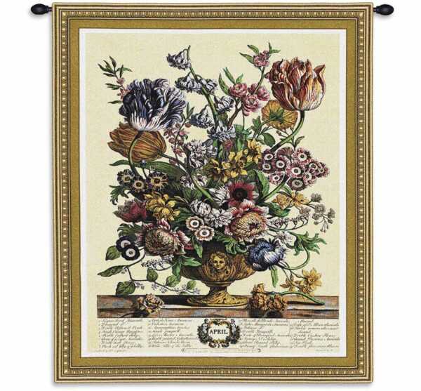 April Botanical | 26 x 32 | Floral Tapestry Wall Hanging
