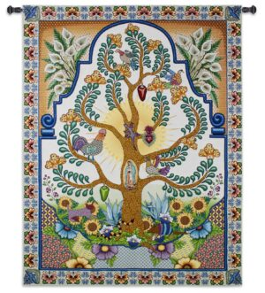Arboles de la Vida | Latin Tree of Life Wall Tapestry | 68 x 52