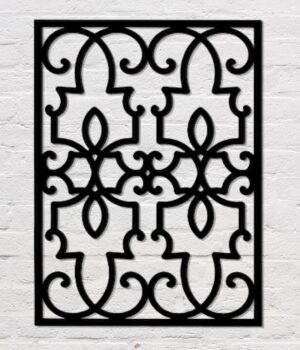 Architectural Rectangle Wrought Iron Wall Art  | 24 x 32