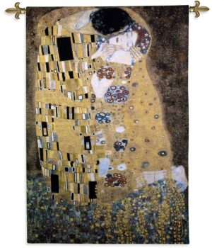 "Artist Gustav Klimt's The Kiss | 32"" x 53"" 
