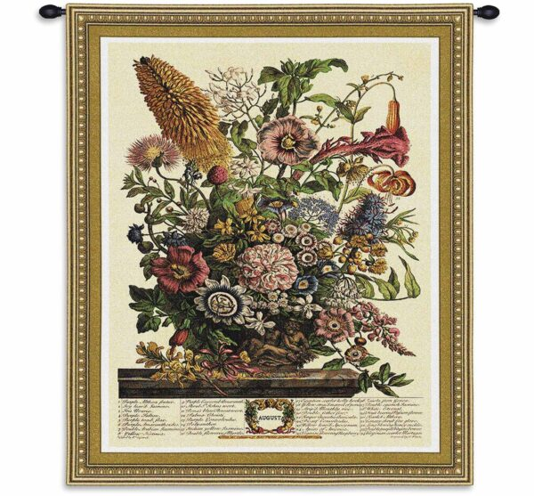 August Botanical | 26 x 32 | Floral Tapestry Wall Decor