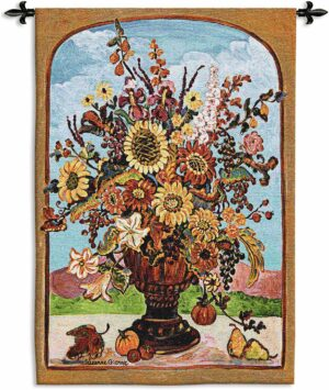 Autumn Vase | 34 x 53 | Woven Tapestry Hanging