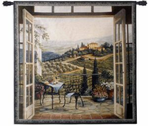 "Balcony View of the Villa | 53"" x 53"" 