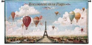"Ballooning Over Paris | 48"" x 25"" 