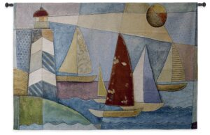 Bay Regatta | Nautical Tapestry | 36 x 53