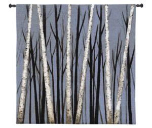 "Birch Shadows by Eve | Tapestry Wall Hanging | 49"" x 39"""
