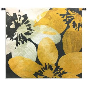 "Bloomer Tile IX By James Burghardt | Woven Tapestry | 44"" x 44"""
