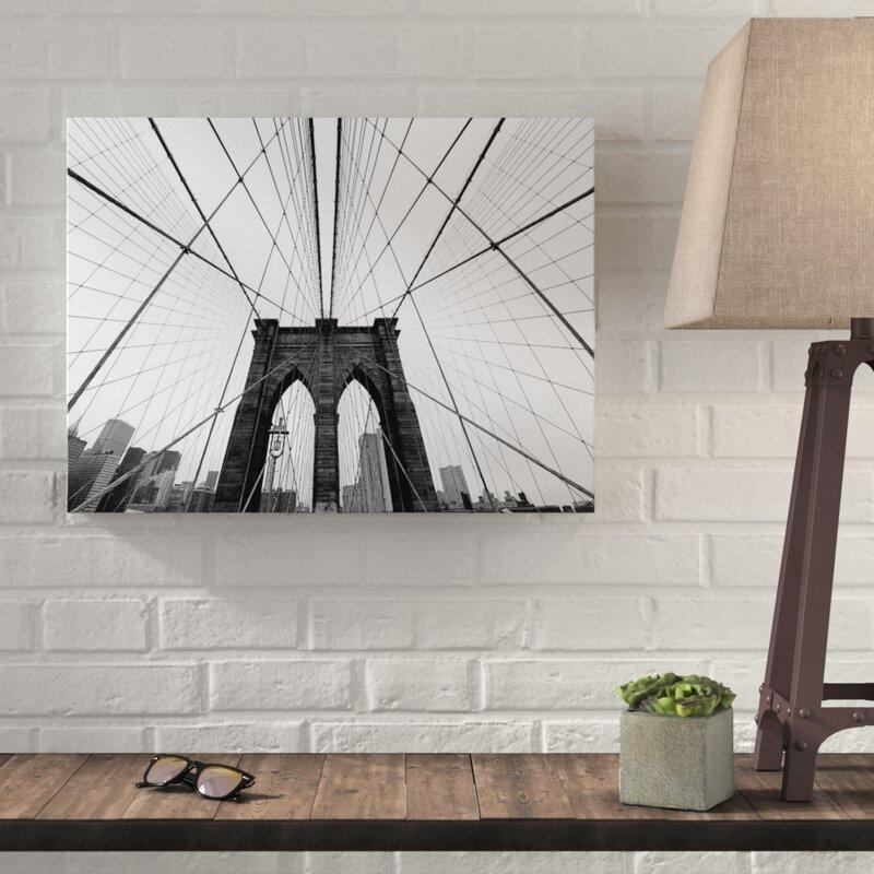 Brooklyn Bridge Photographic Print on Canvas