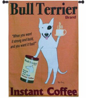 "Bull Terrier Instant Coffee | 39"" x 53"""