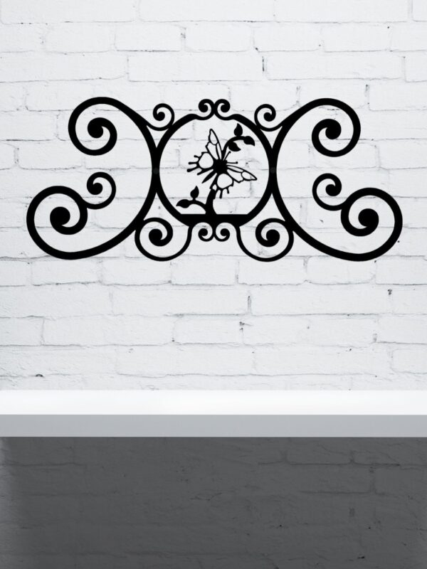 """Butterfly Wrought Iron Wall Plaque   Indoor Outdoor   24"""""""