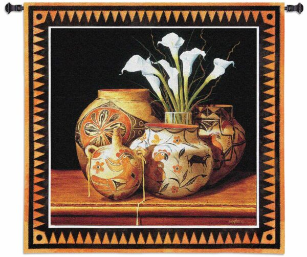 Calla And Canteen | 44 x 44 | Woven Hanging Tapestry