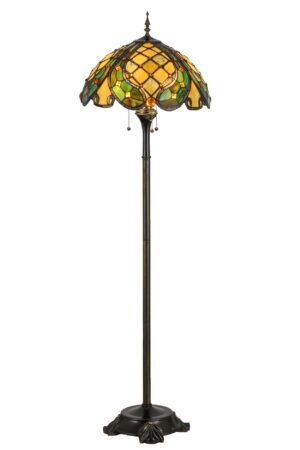 Capolavoro Stained Glass Tiffany Floor Lamp | 65""