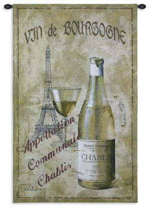 "Chablis '27 Wine Tapestry Wall Decor | 33"" x 53"""
