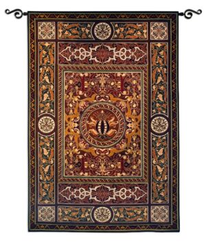 Chateau Medallion | Traditional Tapestry Wall Hanging | 75 x 53
