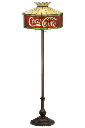 Coca-Cola Stained Glass Floor Lamp | 64""