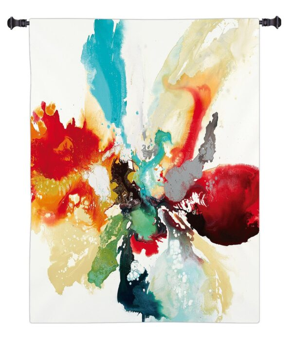 Color Expression | Large Woven Art Tapestry | 53 x 53