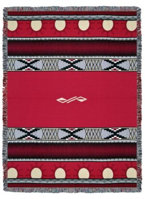 Concho Springs Red Southwest Tapestry Throw | 72 x 54