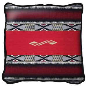Concho Springs Red Southwest Throw Pillow | 17 x 17