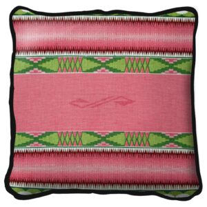 Concho Springs Rose Pink Southwest Throw Pillow | 17 x 17