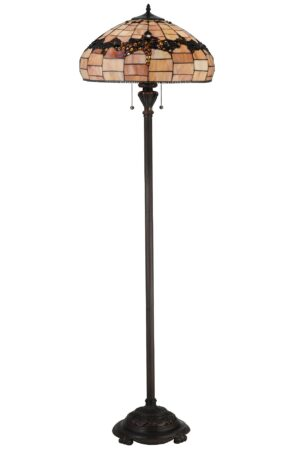 Concord Grapes Stained Glass Floor Lamp | 66.5""