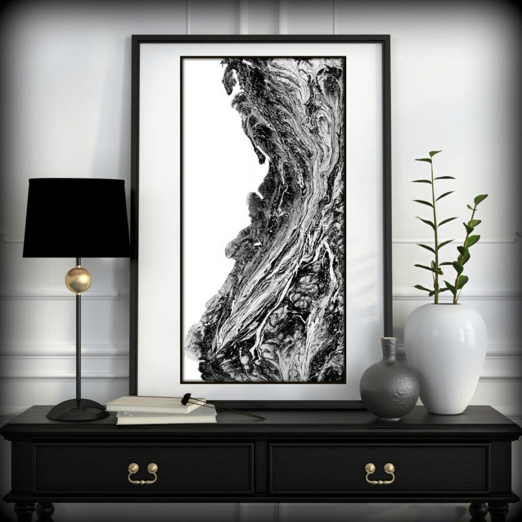 Contentment 2 Modern Black & White Art Print