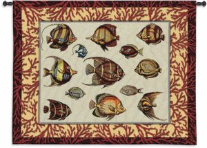 Coral Fish Study   53 x 42   Woven Tapestry