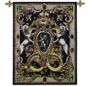 Crest On Black I | 41 x 53 | Woven Tapestry