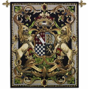 Crest On Black II | 41 x 53 | Woven Tapestry