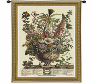 December Botanical | 26 x 32 | Floral Tapestry Wall Hanging