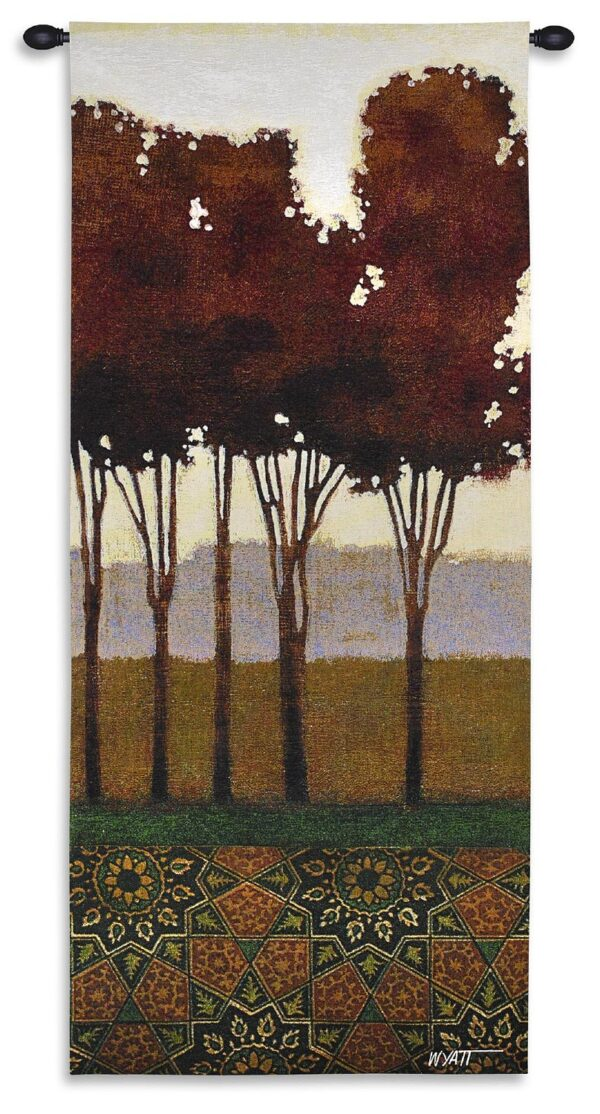 Dreamers Grove II | Contemporary Landscape Wall Tapestry | 62 x 26