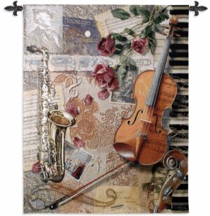 "Ensemble of Music Instruments | 42"" x 53"" 