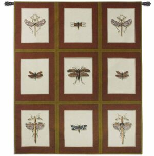 Entomological Nine Study | 74 x 64 | Woven Tapestry Decor