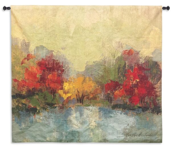 Fall Riverside I | Woven Art Tapestry | 45 x 45