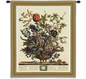 February Botanical | 32 x 26 | Woven Floral Tapestry Hanging