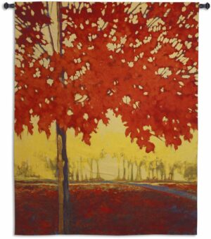 Fire Maple | 68 x 53 | Woven Tapestry Decor