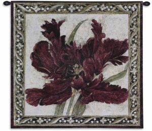 "Fire Red Tulip | 27"" x 27"" 