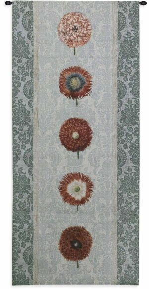 "Floating Botanicals Rain | 26"" x 57"" 
