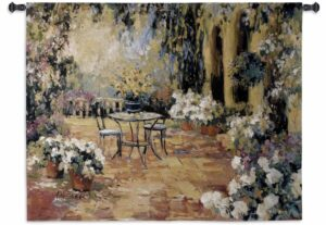 "Floral Courtyard | 53"" x 40"" 